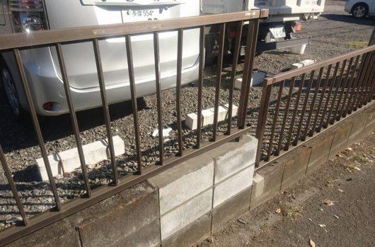 駐車場ブロック補修工事